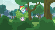 Rainbow Dash on top of Pinkie Pie EG3.png
