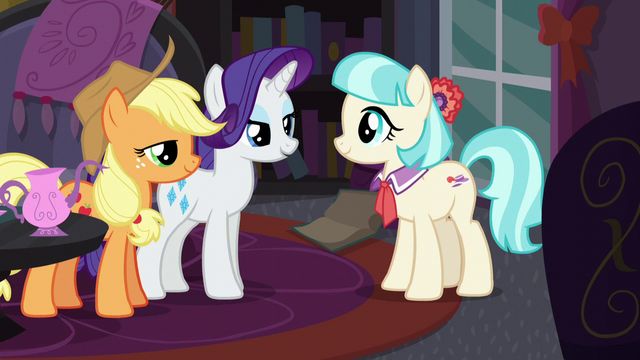 File:Rarity and Applejack happy to help Coco S5E16.png