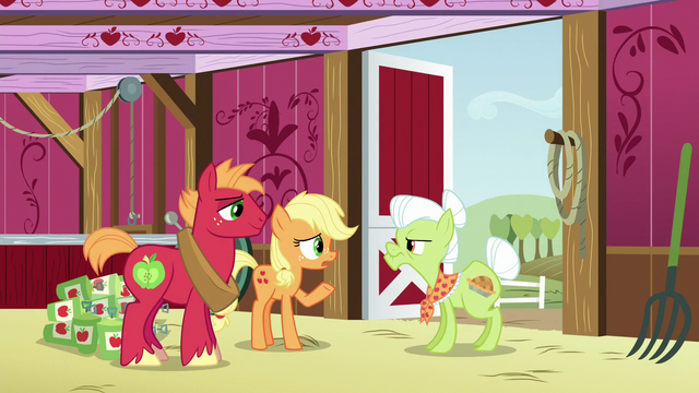 """File:Young Applejack """"why can't we sell a few barrels"""" S6E23.png"""