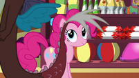 Pinkie Pie watching Discord leave S7E12