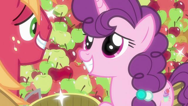 File:Sugar Belle giving Big Mac a pretty smile S7E8.png