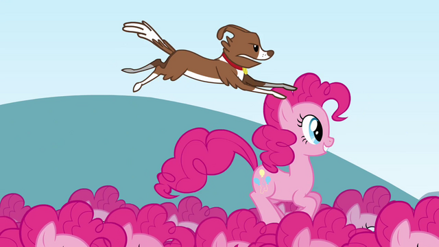 File:Winona jumping on Pinkie clone's head S3E03.png