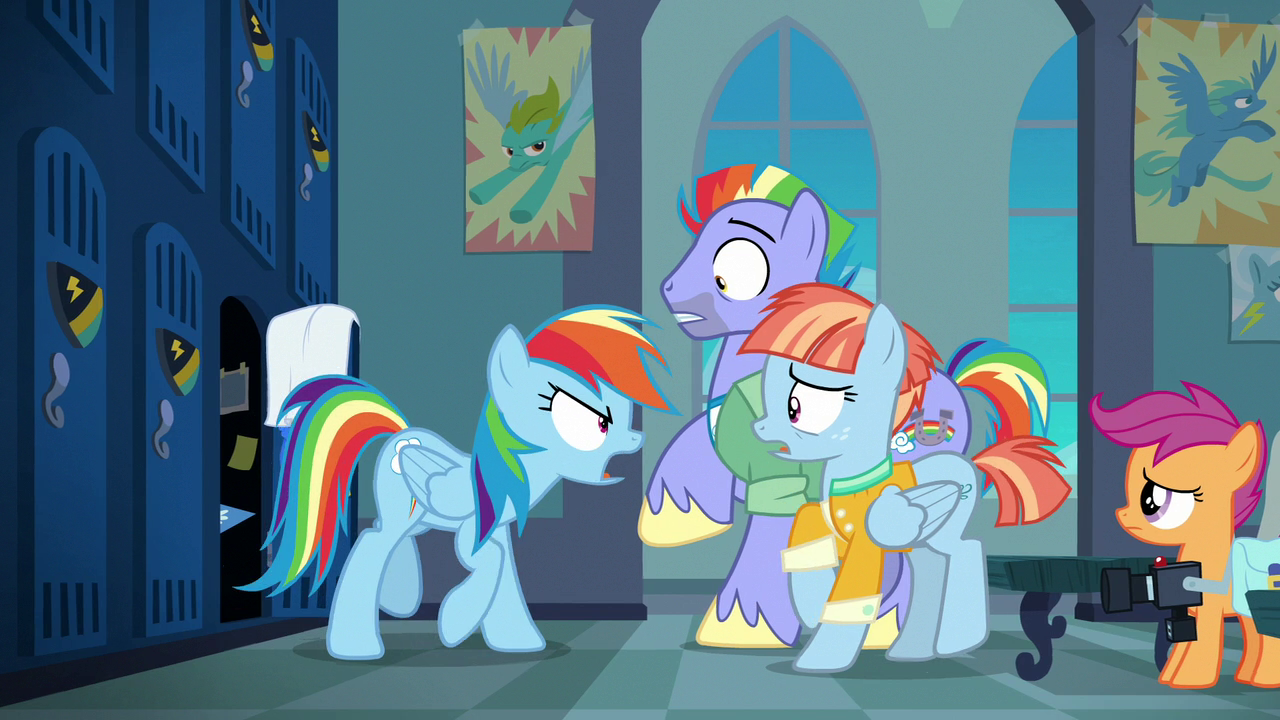 image rainbow dash shouting at her parents s7e7png my