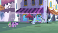 Twilight walking on the street with Spike S3E01.png