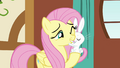 Angel nuzzles Fluttershy S3E13.png