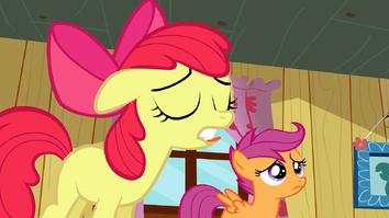 Apple Bloom mouth error S2E17