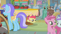 Apple Bloom peeking out from under a table S1E12.png