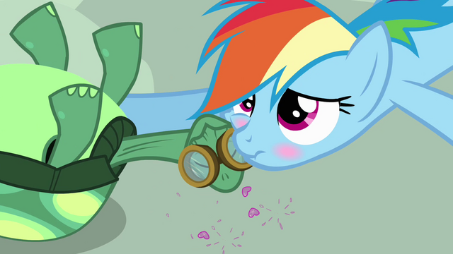 File:Rainbow Dash affectionatly blushing S3E11.png
