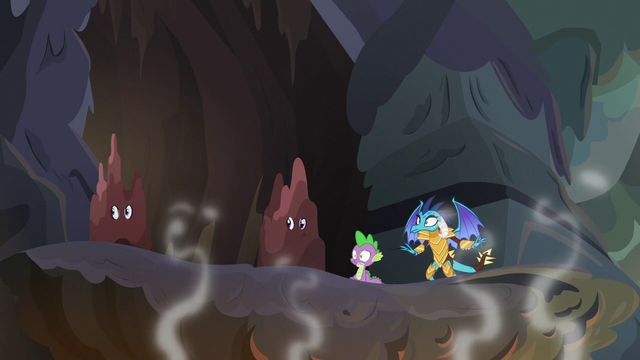 File:Spike and friends in shaking volcano S6E5.png