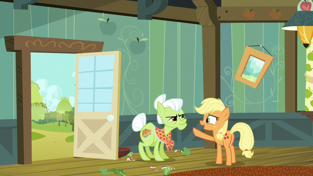"File:Young Applejack ""you go start countin'"" S6E23.png"