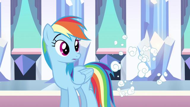 File:Rainbow Dash surprised despite S3E1.png