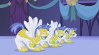 Royal guards prepare to attack Nightmare Moon S1E02