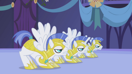 Royal guards prepare to attack Nightmare Moon S1E02.png