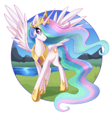 FANMADE Princess Celestia graceful