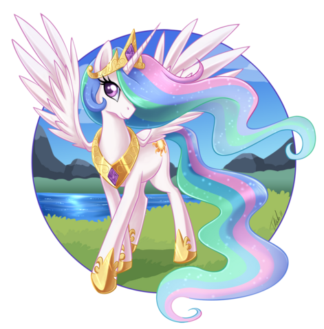 File:FANMADE Princess Celestia graceful.png