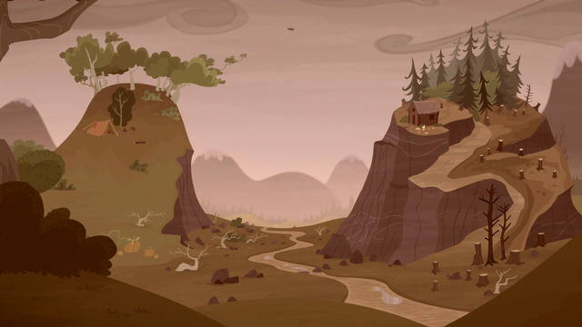 File:Grub and Piles settle near the top of the mountains S5E23.png