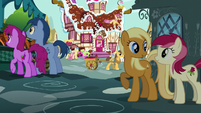 Pinkie sees several ponies outside S5E19