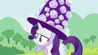 Rarity wearing a big hat S4E18