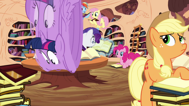 File:Twilight rolls into the library S4E01.png