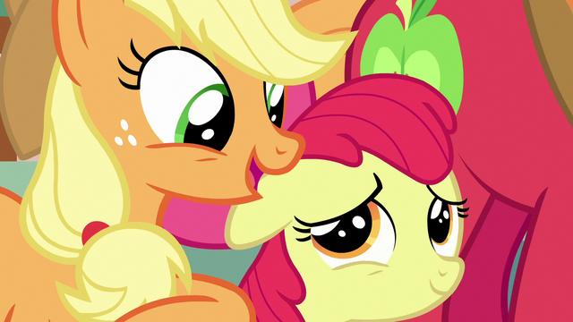 "File:Applejack ""just like you, sugarcube!"" S7E13.png"