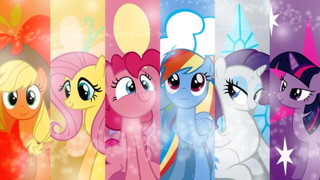 File:FANMADE My Little Pony Friendship is Magic Mane 6 wallpaper.jpg
