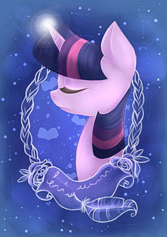 File:FANMADE Twilight Sparkle portrait.png