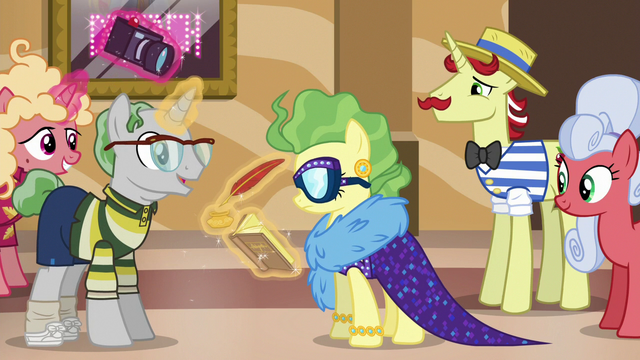 File:Pony asking for Impossibly Rich's autograph S6E20.png