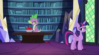"""Spike skeptical """"spell?"""" S5E22"""