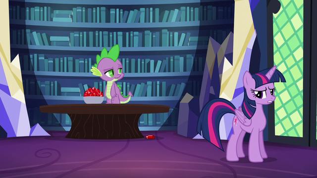 "File:Spike skeptical ""spell?"" S5E22.png"