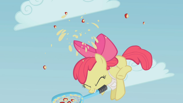 File:Apple Bloom hitting the apple S1E12.png