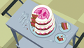 Cake for the sick foals partially eaten S7E3.png
