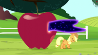 Tantabus escapes through Applejack's giant apple S5E13