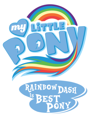 """File:FANMADE MLP """"Rainbow Dash is best pony"""" logo.png"""