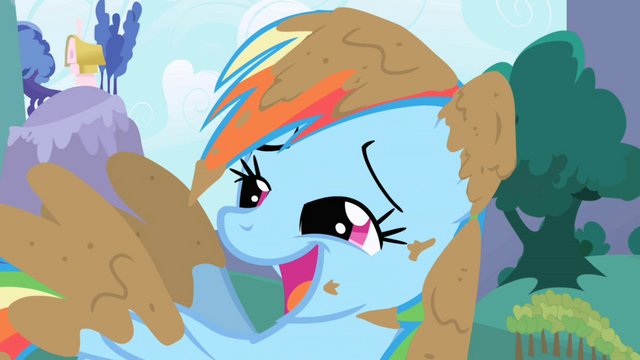 Файл:Muddy Rainbow Dash Laughing S1E01.png