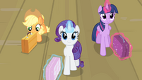 Rarity and friends walking S4E08