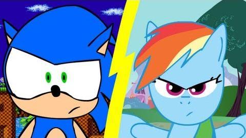 Sonic VS Rainbow Dash