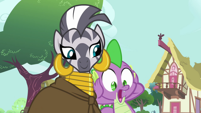 File:Spike sees Zecora give his jewel away S03E11.png