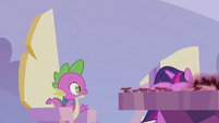 Twilight buries her face in her hooves S5E25