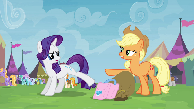 """File:""""No, you are!"""" Rarity and Applejack S4E22.png"""
