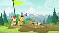 Applejack and Rara slip into mud S5E24.png