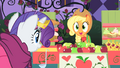 Applejack excited to see Rarity walk over S1E26.png