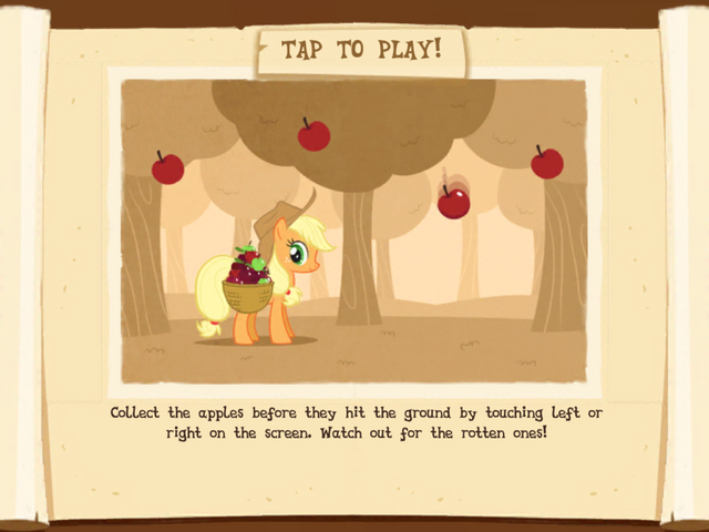 File:Collecting apples minigame instructions MLP Game.png