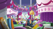 Rarity and Sassy in messy Canterlot Carousel S7E6.png