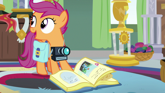 File:Scootaloo asking about Rainbow's Wonderbolt stuff S7E7.png