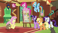 Fluttershy embarrassed by her outburst S7E5.png