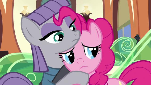 File:Sad Pinkie Pie hugging Maud S4E18.png