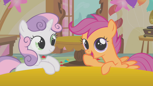"File:Scootaloo and Sweetie Belle ""I'm liking this idea"" S01E12.png"