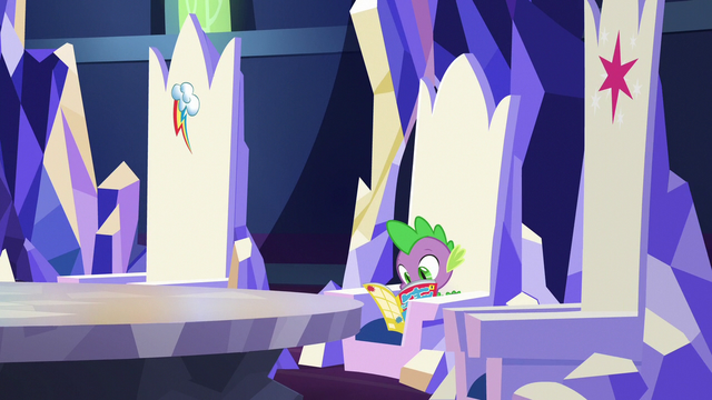 File:Spike reading a comic in his throne S7E2.png