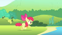 Apple Bloom running towards the water S4E20