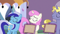 Minuette, Twinkleshine, and Ponet turning away S6E12.png